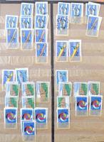 NSZK 1970-2000 Kb. 10.000 db képes bélyeg 10-es kötegekben, 2 db 10 lapos nagyalakú berakóban