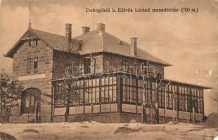 Dobogókő, b. Eötvös Lóránd menedékház, Dietrich József felvétele, Fővárosi Turista Kör pecséttel (EM)