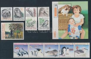 1988-1995 Állat motívum 2 db sor + 1 blokk + 1 db önálló érték