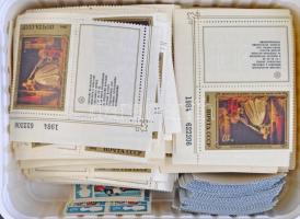 Szovjet szelvényes festmény sor és 1 fajta eseménybélyeg sok példányban, kis dobozban