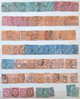 Olaszország Régi bélyegek + 1 db borítékban többpéldányok 10 lapos A4-es berakóban