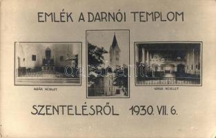 1930 Mosondarnó, Darnózseli; Római katolikus templom szentelése, oltárrészlet, belső, photo (EK)