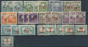 Baranya 30 db megszállási bélyeg, garancia nélkül