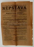 1919 Népszava. XLVII évfolyam, 133. szám, 1919. augusztus 2. szám. Benne a kor híreivel, a Peidl Gyula (1873-1943) kormányának (1919. augusztus 1.-6.) megalakulásával.
