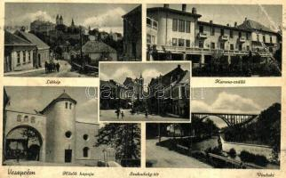 Veszprém - 3 db VEGYES magyar városképes képeslap / 3 MIXED Hungarian townview postcards