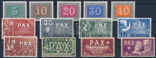 1945 Pax sor Mi 447-459 (Mi EUR 500,-)