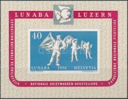 1951 Nemzetközi Bélyegkiállítás blokk Mi 14 (Mi EUR 280,-)