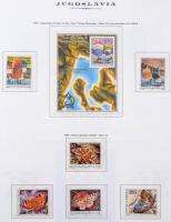 Jugoszlávia 1981-1990 Postatiszta gyűjtemény Marini falcmentes albumban tokkal (Mi EUR 465,-)