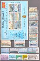 Hajó motívum gyűjtemény benne több, mint 1.000 db főleg postatiszta bélyeg, sok blokkal 16 lapos A4-es berakóban