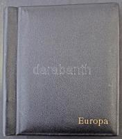 KABE 30 lapos 12 soros osztott fehér lapos nagyalakú rugós berakó, rajta Europa felirattal