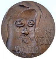 Ligeti Erika (1934-2004) DN Mogyeszt Petrovics Muszorgszkij Br plakett (113mm) T:2