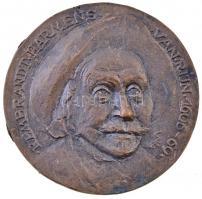 Soltra Elemér (1922-2013) 1986. Rembrandt Harmens van Rijn 1606-69 Br plakett (95,5mm) T:2 apró oxidáció
