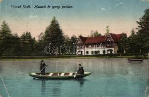 Thurzófüred, Kupele Turzo; Halastó, igazgatósági pavilon / lake, directorate (fa)