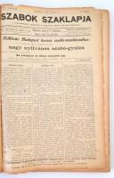 1898-1902 a Szabók szaklapja számos lapszáma egybekötve, érdekes írásokkal, kötése elválik
