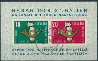 1959 Nemzetközi bélyegkiállítás blokk Mi 16