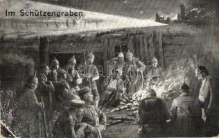 Im Schützengraben / WWI K.u.K. soldiers in the trenches (EK)