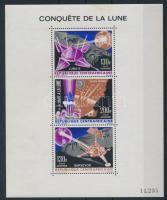 1966 Holdra szállás blokk Mi 5 (rozsda / stain)