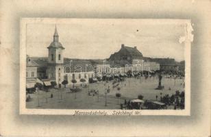 Marosvásárhely, Targu Mures; Széchényi tér, József Emil üzlete, kiadja Márványi Arthur / square, shop (felületi sérülés / surface damage)