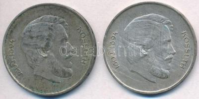 1947. 5Ft Ag Kossuth (2x) T:2-,3 patina  Adamo F8.1