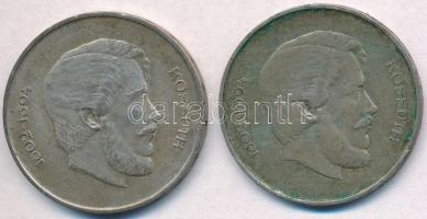 1947. 5Ft Ag Kossuth (2x) T:2- patina  Adamo F8.1