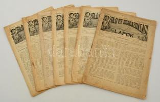 1897 a Szőlő és borgazdasági lapok 2. évf. 8 db lapszáma, számos érdekes írással
