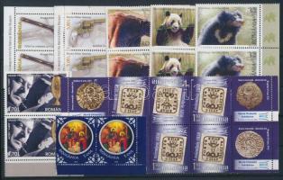 2007-2008 20 db bélyeg párokban és szelvényes 6-os tömbben