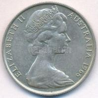 Ausztrália 1966. 50c Ag II. Erzsébet T:2 Australia 1966. 50 Cents Ag Elizabeth II C:XF Krause KM#67