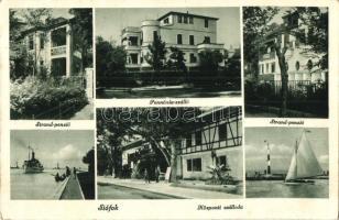 Siófok, Központi szálloda, Pannónia szálló, Strand panzió (EK)