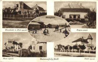 Siófok, Balatonújhely; Fövenyfürdő, Rózsabimbó, Péch, Ilona, László nyaralók, Fenyves panzió (EK)