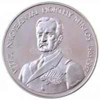Bognár György (1944-) 1993. Vitéz Nagybányai Horthy Miklós / Itthon hazai földben Ag emlékérem eredeti tokban tanúsítvánnyal (31,14g/0.925/42,5mm) T:2 (PP)