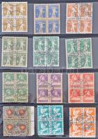 Svájc 186 db klf kiadás 4-es tömbökben 15 lapos gyűrűs berakóban