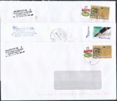 21 db üzleti levél megszemélyesített bélyegekkel bérmentesítve