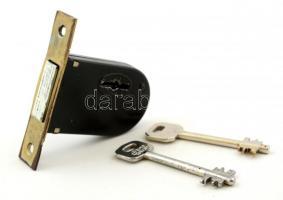 Használt, működő Euro Elzett két tollas patkózár 2 kulccsal.