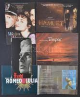 Shakespere darabok adaptiációról szóló különféle kiadványok (Hamlet, Romeo és Júlia, A vihar, Vízkereszt), magyar, német és angol nyelven.