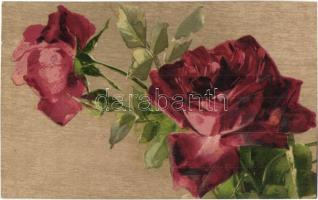 Red rose, flowers, G. O. M. litho (b)