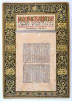 1938 A Globus Nyomdai Műintézet Rt. asztali naptárához tartozó papírállvány, szakadt, foltos állapotban, 34x24 cm