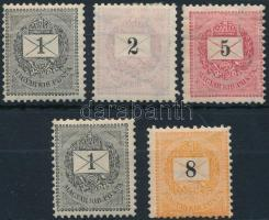 1889 5 db bélyeg