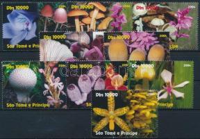 Sao Tomé és Principé 2004 Gomba, orchidea 9 klf bélyeg