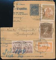 1923 (6. díjszabás) Csomagszállító Arató, Parlament, Madonna és Petőfi bérmentesítéssel