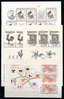 Csehszlovákia összeállítás, benne 9 db kisív 2 oldalas A4-es berakólapon
