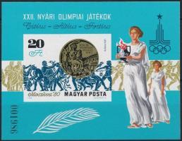 1980 Olimpiai érmesek (IV.) vágott blokk (4.000)