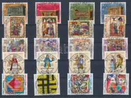 1987-1991 5 klf Pro Patria sor első napi bélyegzéssel