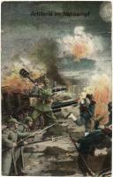Artillerie im Nahkampf / WWI K.u.K. Artillery in melee combat, M. B. L. 1469 (kis szakadás / small tear)