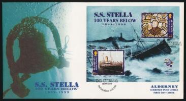 1999 125 éves az UPU - Stella gőzös blokk Mi 5 FDC