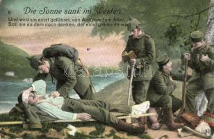 Die Sonne sank im Westen..., volkslied / WWI K.u.K. military, injured soldier, folk song, M. B. L. 1496 (fa)
