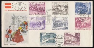 1964 UPU Konferencia sor Mi 1156-1163 FDC