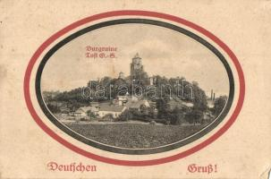 Toszek, Tost; Burgruine / castle ruins, Otto Andres (EM)