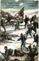 WWI K.u.K. infantry stormed an area occupied by the Russians, on a hill near Przemysl, M. B. L. 1472 (EK)