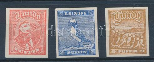 Lundy 3 klf vágott madár bélyeg