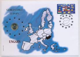 2001. 1Ft Egyesült Európa felbélyegzett borítékban 2004-es bélyegzéssel T:1